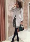 【冬デートに◎】甘めコート+黒の花柄スカートの大人可愛いコーデ