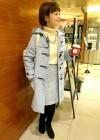 ブルーダッフルコート+グレースカートの春コーデ(3月)